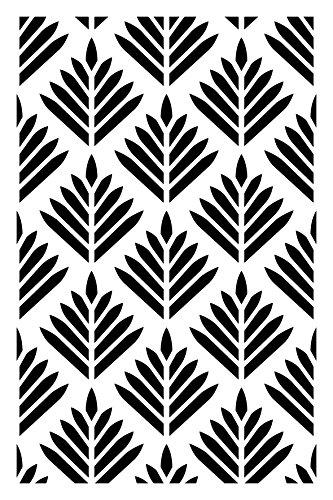 Artemio follaje Plantilla Home Déco, plástico, Negro, 15,5x 0,2x 19,5cm