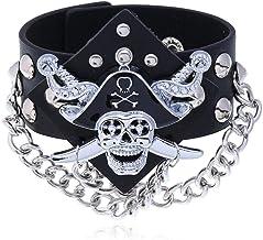 THTHT Verstelbare punk-armband leer mannen en vrou...