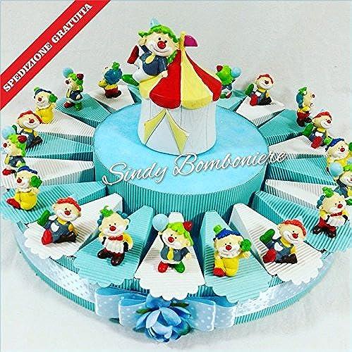 Idee Torte Gastgeschenk für Geburt Taufe Kindergeburtstag pagliaccietto Clown Zirkustiere sortiert Unterstützung Versand inklusive Torta Da 35 Fette