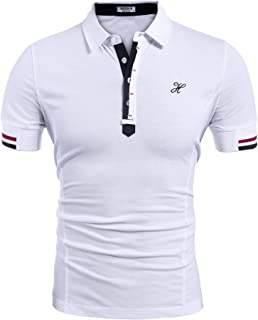 Hotouch Mens Fashion Polo Shirts Casual Slim Fit Basic Sport Polo T-Shirts
