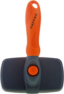 HATTIKO Pet Grooming Tool - Dematting Brush for Dogs & Cats with 2 Sided Undercoat Rake for All Mats & Tangles and Knots Removing for Long & Medium Hair