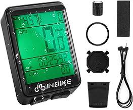 SKYSPER Cuentakilómetros para Bicicleta, Computadora de Bicicleta Inalámbrica IP66 Impermeable Velocímetro Odómetro con Pantalla LCD de Retroiluminación 21 Funciones para Ciclismo