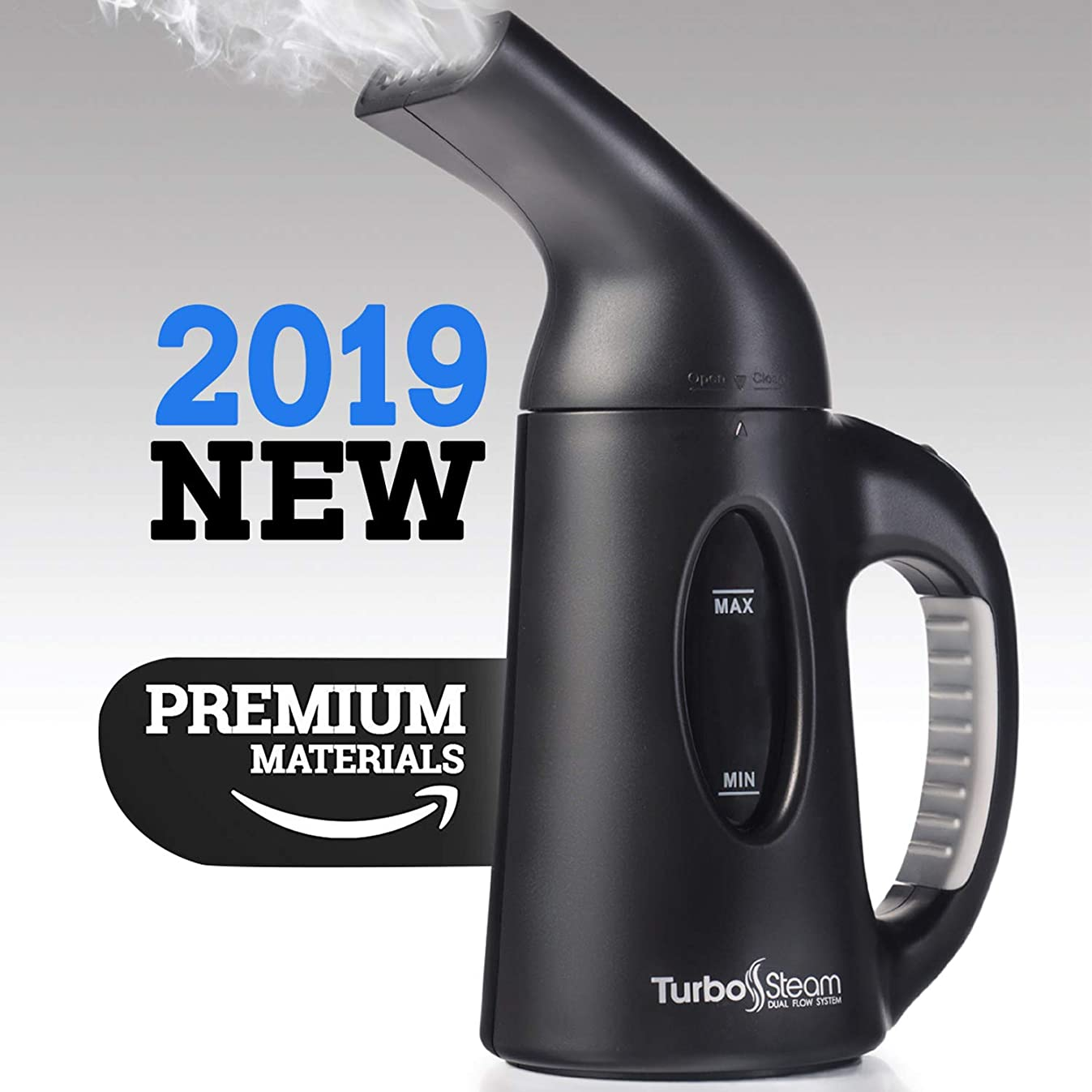 TurboSteam Handheld Steamer for Clothes & Fabrics – Multi-Use, 850W Powerful, Portable Travel Steamer & Sanitizer – 45s Fast Heat-up with Auto Turn-Off for Household Cleaning, Speedy Wrinkle Releas