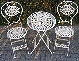 Jugendstil Gartenmöbel Set - Gartentisch Barock Antik- Tisch, Stühle Garten Barock