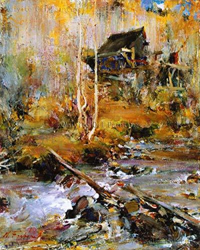LEPOTN Venta al por Mayor para la Venta Abstracta Naturaleza Paisaje Pintura sobre Lienzo Sala de Estar Pared Cuadros Chino Pintura al óleo-36