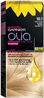 Garnier Olia, No Ammonia Permanent Hair Color With 60% Oils, 10.1 Ashy Very Light