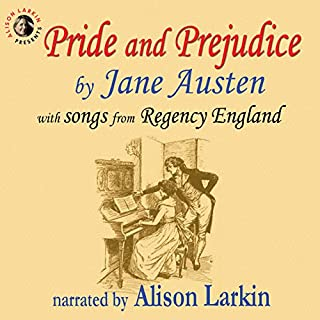 Pride and Prejudice, with Songs from Regency England                   By:                                                                                                                                 Jane Austen                               Narrated by:                                                                                                                                 Alison Larkin                      Length: 13 hrs and 29 mins     5 ratings     Overall 4.6
