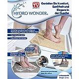 JEWADO Hydro Wonder Anti-Rutschmatte für Bad und Dusche Shower Mat 40 x 60 cm in Beige oder Grau - Original aus TV-Werbung! Farbe:Grau