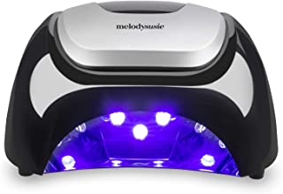 MelodySusie LED Nail Lamp, Professional LED Gel Nail Dryer Nail Light with 3 Timer Controls Super Chip Fast Curing LED Gel Nail Polish (Classic Black)