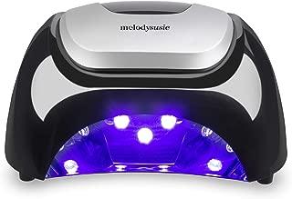 MelodySusie LED UV Nail Lamp Salon, Professional LED Gel Nail Dryer Nail Light with 3 Timer Controls LG Super Chip Fast Curing LED UV Gel Nail Polish for Salon (Classic Black)