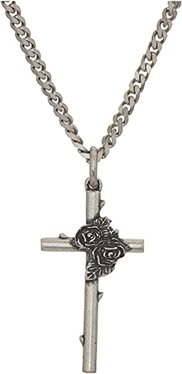 Cross and Roses Necklace