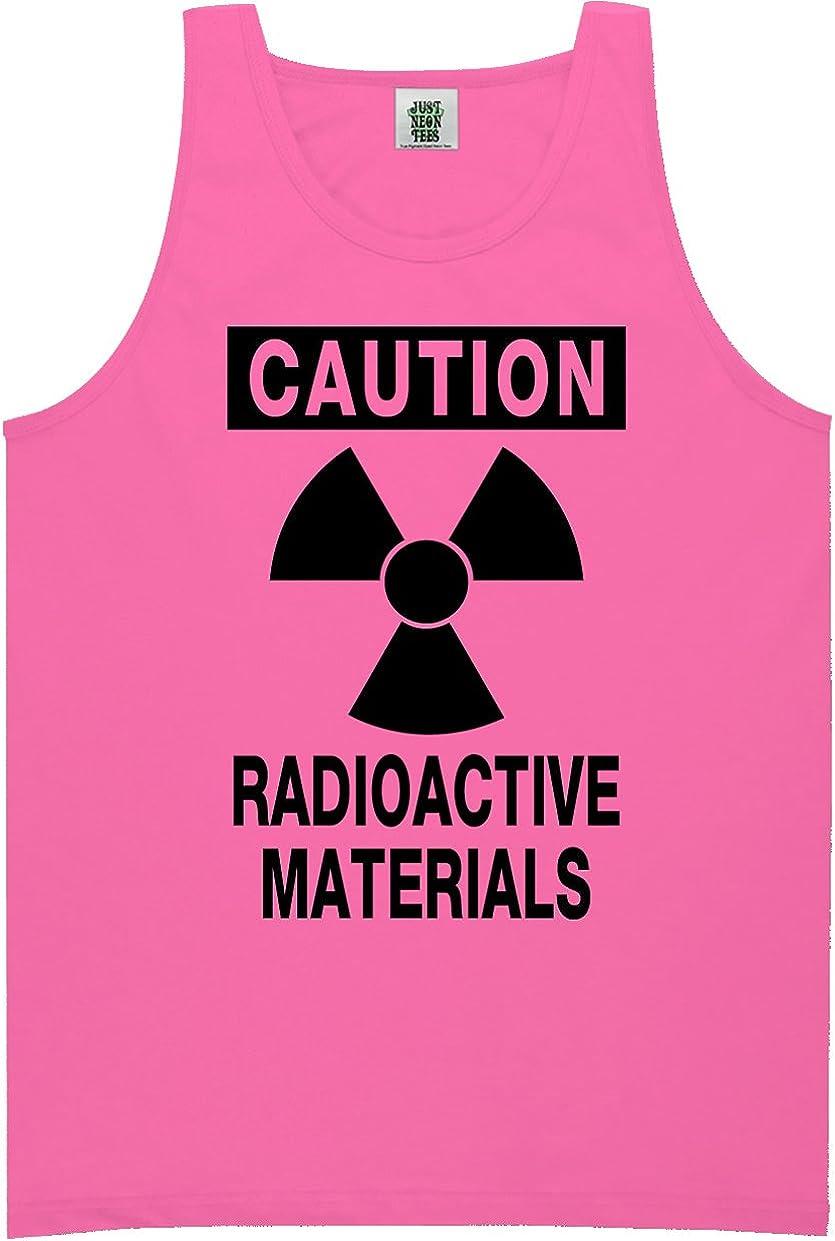 zerogravitee Caution Radioactive Materials Bright Neon Tank Top - 6 Bright Colors
