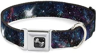 Buckle-Down Seatbelt Buckle Dog Collar - Galaxy Collage - 1
