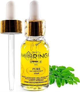 Zest Of Moringa Face Oil For Anti - Aging Wrinkles | Moringa Oil For Skin Care, Hair Care, Acne Treatment & Eczema Essenti...