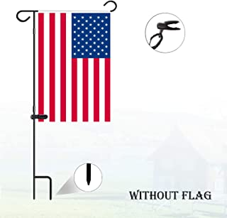 Nirohee Garden Flag Stand,Flag Banner Stands,Decor Pole Stand,Yard Flag Pole Small, Banner Flagpole,Wrought Iron Flag Stand for Flags with Anti-Wind Clip,Flag Pole Bulk Without Flag