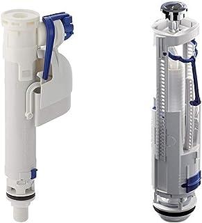 RAK Dual Flush Fitting and Flush Valve Bottom Inlet Toilet Tank Fitting Kit for Flush Full Set FS68GEBRI + FS68GEBRF