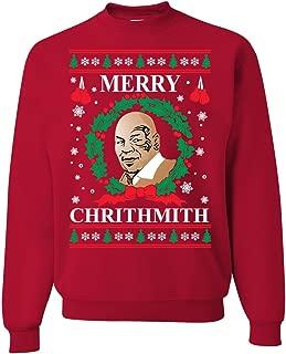 Wild Bobby Merry Chrithmith Mike Tyson Ugly Christmas Sweater Unisex Crewneck Sweatshirt