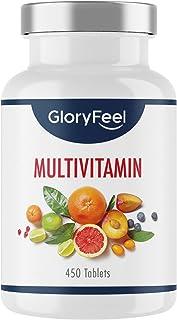 Multivitamin hög dos - 450 tabletter (15 månader) - Jämförande vinnare 2020 * - Alla värdefulla A-Z vitaminer och minerale...