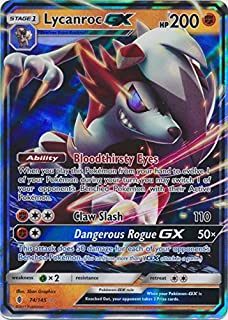 Pokemon Lycanroc-GX - 74/145 - Ultra Rare - Sun & Moon: Guardians Rising
