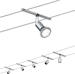 Paulmann 94145 Système de câbles Spice Salt, max. 5x10W, GU5,3 Chrome mat, 230/12V, 60VA, Métal