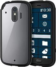 Elecom PM-F203TSLFCBK TOUGHSLIM LITE Smartphone Case, Hybrid Shockproof, Frame Color, Black