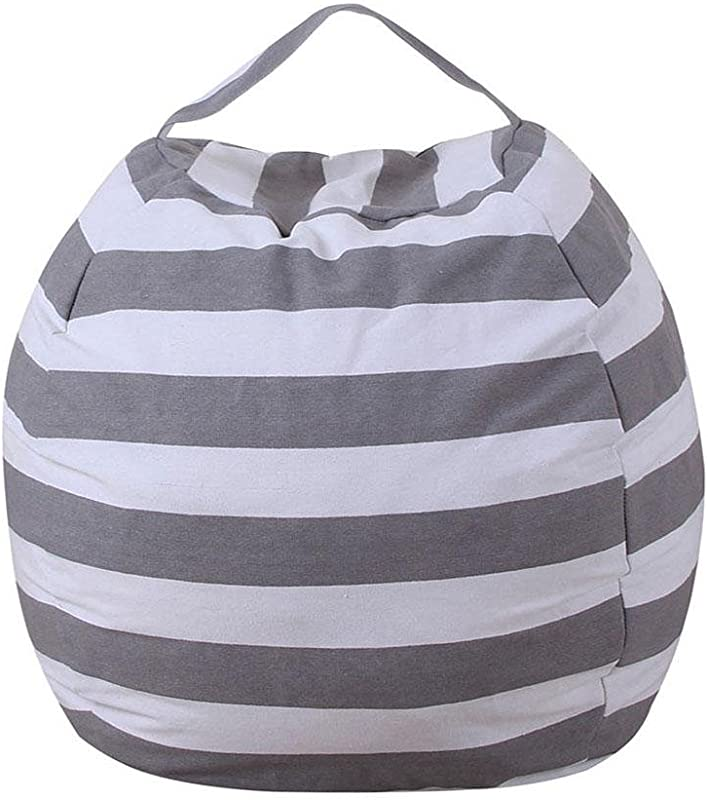 UNIhappy Extra Large Stuff N Stuffed Animal Storage Bean Bag Cover By Clean Up The Room And Put Those Plush Toy To Work For You Light Grey