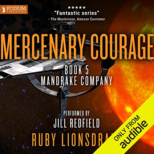 Mercenary Courage audiobook cover art
