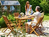 Deuba Sitzgruppe Sydney 4+1 Akazienholz 5-TLG Tisch klappbar Sitzgarnitur Holz Garten Möbel Set - 5