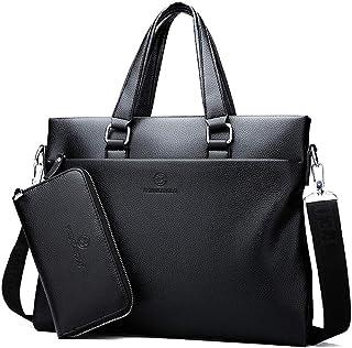 Men Leather Portable Shoulder Messenger Handbag Business Bag