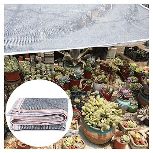 Panneaux D'ombrage 90% Aluminet Sun Shade Tissu Pergola Couverture Porche Vertical Écran 6.6 x 6.6ft Résistant Aux UV Mesh Soleil Ombre for Couverture De Jardin Plantes Fleurs Sunblock Shade Net Patio
