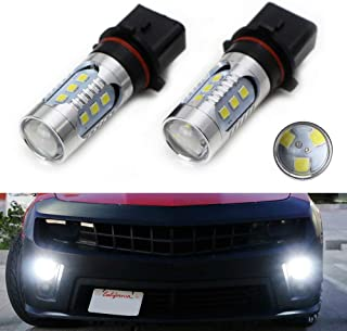 iJDMTOY (2) Super Bright 15-Chipset P13W High Power LED Bulb Replacement For 2010-2013 Chevrolet Camaro, 2013-2015 Mazda CX-5, 2008-2012 Audi A4/S4/Q5 Daytime Running Lights, etc, Xenon White