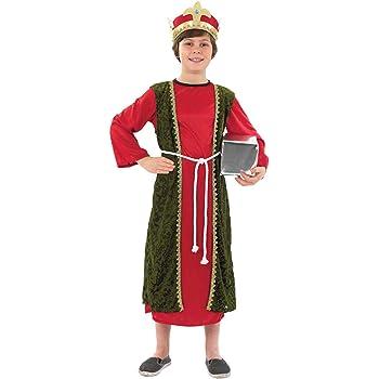 Childs Nativity King Costume Boys Girls Christmas Fancy Dress Kids Xmas Outfit