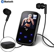 Clip MP3 Player with Bluetooth 4.2,1.5 inch Screen Music Player with Touch Button for Sports 8GB Portable MP3 Player with FM Radio E-Book Voice Recorder and Hard Shell Carrying Case VZ SPORT MATE
