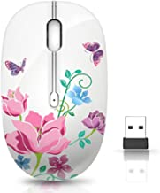 Wireless Mouse with Nano Receiver for PC, Laptop, Notebook, Computer, MacBook, Less Noise, Portable Mobile Optical Mice