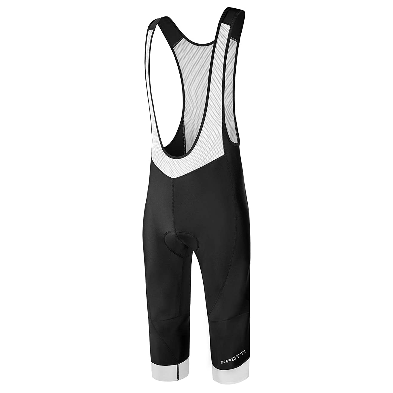 Spotti Men's Cycling Bib Shorts, 3D Padded Bike Bib Tights Breathable Bicycle Pants - Comfortable & Better Fit