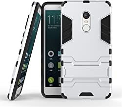 DWAYBOX Xiaomi Redmi Note 4 / Note 4X Cover 2 in 1 Hybrid Heavy Duty Armor Hard Back Case Cover with Kickstand for Xiaomi Redmi Note 4X / Xiaomi Redmi Note 4 / Hongmi Note 4 5.5 Inch (Silver)
