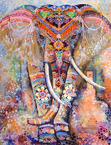 AYSUNJIE Erwachsenenpuzzle 1000 Teile Klassisches Puzzle Aus Holz Puzzles-Farbe Elefant-Kind Geschenk Wohnkultur Modern Festival DIY Geschenk Intellektuelles Spiel 75X50Cm