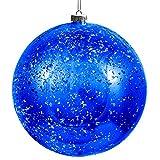 BELLE VOUS Bolas de Navidad - Bola Azul de Plástico Grande 19,5 cm con Cuerda Adornos...