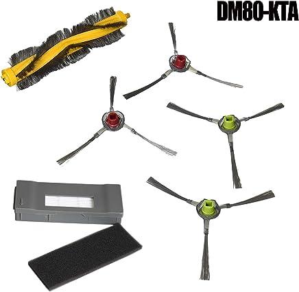 IDS Home Replacement Vacuum Cleaner Brush Filter HEPA for Ecovacs Robotics DM80-KTA Deebot M81