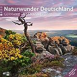 Naturwunder Deutschland 2020, Wandkalender / Broschürenkalender im Hochformat (aufgeklappt 30x60 cm) - Kalender mit Monatskalendarium zum Eintragen