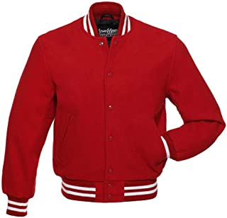 All Wool Varsity Letterman Jackets (5 Team Colors) Wool XXS to 3XL