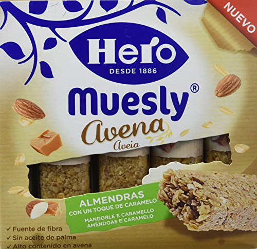 Hero Muesly Barrita de Avena con Almendras y Caramelo - 4 Unidades