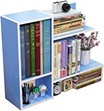 Magazine Racks Multifunctional Home Bookshelf Study MDF Creative Simple Mini Desktop 60x17x50CM A+ cxjff (Color : F)