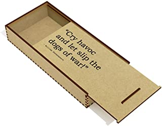 War & Peace Quote by William Shakespeare Wooden Pencil Case / Slide Top Box (PC00009736)