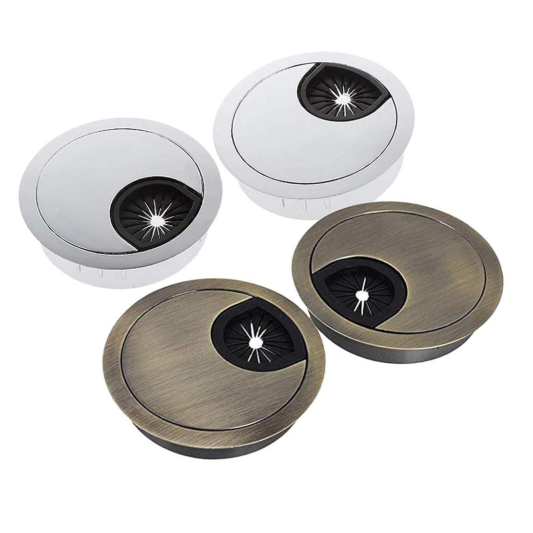 なのでノイズローマ人gazechimp 配線孔キャップ コンピュータデスク テーブルグロメット ケーブル穴カバー 50mm 丸型 4個セット