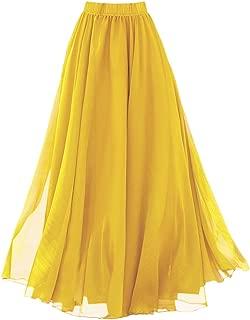 Best maxi skirt yellow Reviews