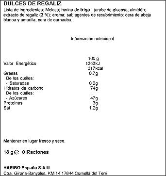 Haribo Regaliz Oro Multipack Dulces de Regaliz - 108 gr: Amazon.es: Alimentación y bebidas