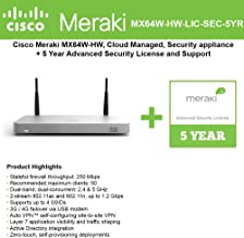Best cisco meraki mx64w setup Reviews