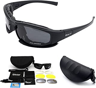 Military Goggles Tactical, MASO polarized daisy x7 army sunglasses Protective Glasses With 4 Interchangeable Lens, Polarized Sport Sunglasses for Men and Women in Running Cycling Skiing Fishing