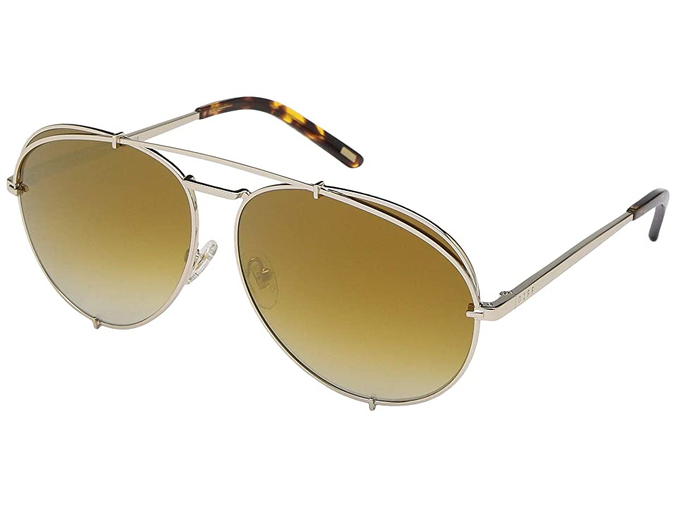 DIFF Eyewear Koko (Gold/Brown) Fashion Sunglasses, Multi